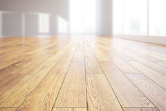 Light wooden floor closeup Royalty Free Stock Images