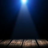 Light on wooden. Floor in empty room Royalty Free Stock Photo