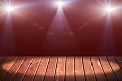 Light on wooden. Floor in empty room Stock Image