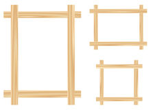 Light wooden framework. Isolated on the white background Royalty Free Stock Images