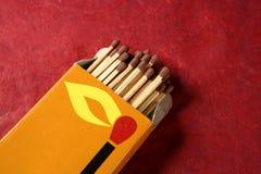 Light wooden matches arrangement Royalty Free Stock Photos