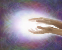 Light Worker Beaming Reiki Healing Energy Stock Photo