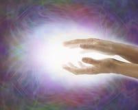 Light Worker Beaming Reiki Healing Energy Royalty Free Illustration