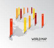 Light World map infographic template Stock Photos