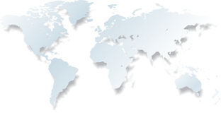 Light world map - vector Royalty Free Stock Photography