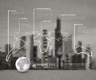 Light World thin line map infographic template Stock Images