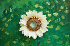 Light yellow artificial sunflower Royalty Free Stock Photo