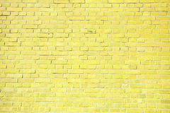 Light yellow brick wall background. Royalty Free Stock Images