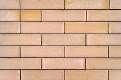 Light yellow brick wall texture. Or background Stock Photos