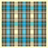 Light Yellow Brown and Blue Scottish Fabric Pattern Stock Photo