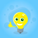 Light Yellow Bulb Thumb Up Hand Gesture Cartoon Royalty Free Stock Image