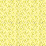 Light Yellow Colors Art Nouveau Style Pattern Stock Photos