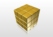 Light yellow cube Royalty Free Stock Image