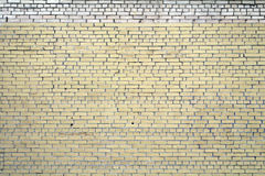 Light yellow curve brick wall for texture and background Royalty Free Stock Image