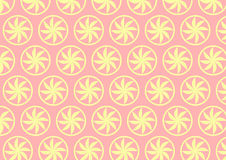 Light Yellow Curve Flower Pattern on Pastel Background Royalty Free Stock Image