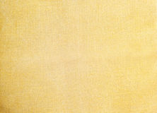 Light yellow natural linen texture for the background. Closeup Royalty Free Stock Photography