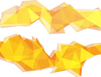 Light yellow and orange polygon abstract background Royalty Free Stock Image