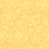 Light yellow vintage flowers vector Stock Image