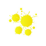 Light yellow watercolor paint drops royalty free stock images