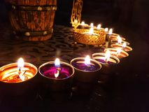 Light your home in Diwali stock photography