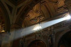 Lightbeam della chiesa Fotografie Stock