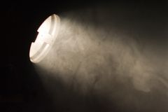 Lightbeam into dust Stock Images