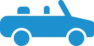 Lightblue Cabriolet icon. Car vector Royalty Free Stock Photos