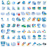 Lightblue network icons Royalty Free Stock Photos