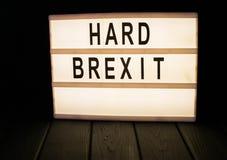 Lightbox avec le brexit de mot photographie stock