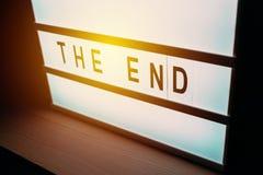 Lightbox di lampeggiamento con il testo dell'estremità Fotografia Stock Libera da Diritti
