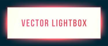 Lightbox sign box mockup. Vector illuminated signage signage light box signboard royalty free illustration