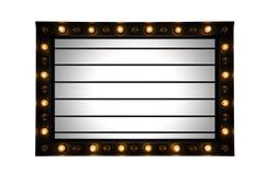 Lightbox signage Stock Image