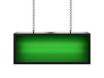 Lightbox verde Imagens de Stock