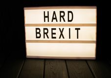 Lightbox with the word brexit stock photography