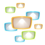 Lightboxes copyspace abstract background Royalty Free Stock Photo