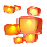 Lightboxes copyspace abstract background Royalty Free Stock Image