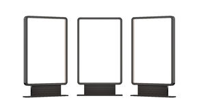 Lightboxes Isolated On white Background Stock Photos