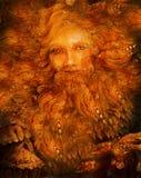 Lightbringer nain mythologic ensoleillé, illustration féerique colorée Image stock