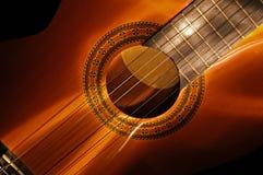 lightbrush 2 de la guitarra Imagen de archivo libre de regalías