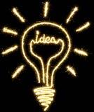 Lightbulb, ιδέα που γίνεται από το sparkler διανυσματική απεικόνιση