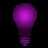 lightbulb λάμποντας βιολέτα Στοκ Εικόνα