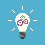 Lightbulb με τα εργαλεία μέσα διανυσματική απεικόνιση