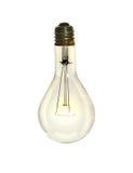 Lightbulb πέρα από το άσπρο υπόβαθρο στοκ εικόνες