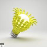 lightbulb изображение идеи принципиальной схемы 3d представило иллюстрация 3D для маркетинга Стоковая Фотография RF