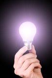 lightbulb руки Стоковое Фото