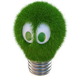 Lightbulb. Made of green cactus. isolated on white Stock Images