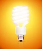 Lightbulb. Vector illustration of classy energy saving compact fluorescent lightbulb on a orange background vector illustration