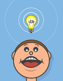 Lightbulb Above Head Royalty Free Stock Images
