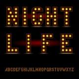 Lightbulb Alphabet Font Stock Images