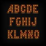 Lightbulb Alphabet Font Royalty Free Stock Images
